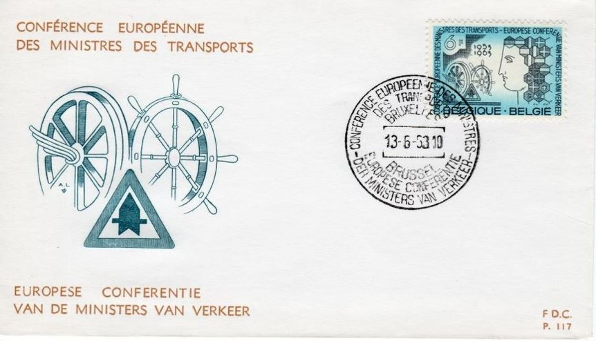 ECMT first day issue stamp 1963 image