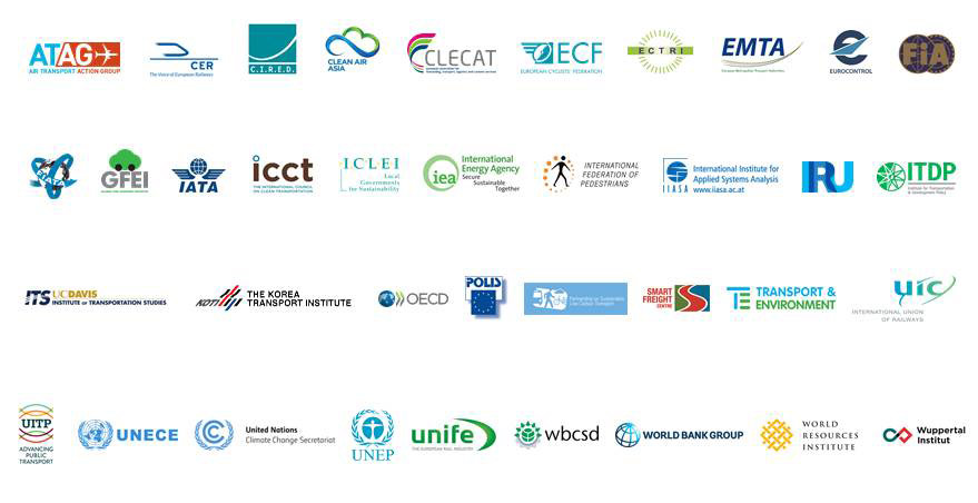 Decarbonising Transport partner logos