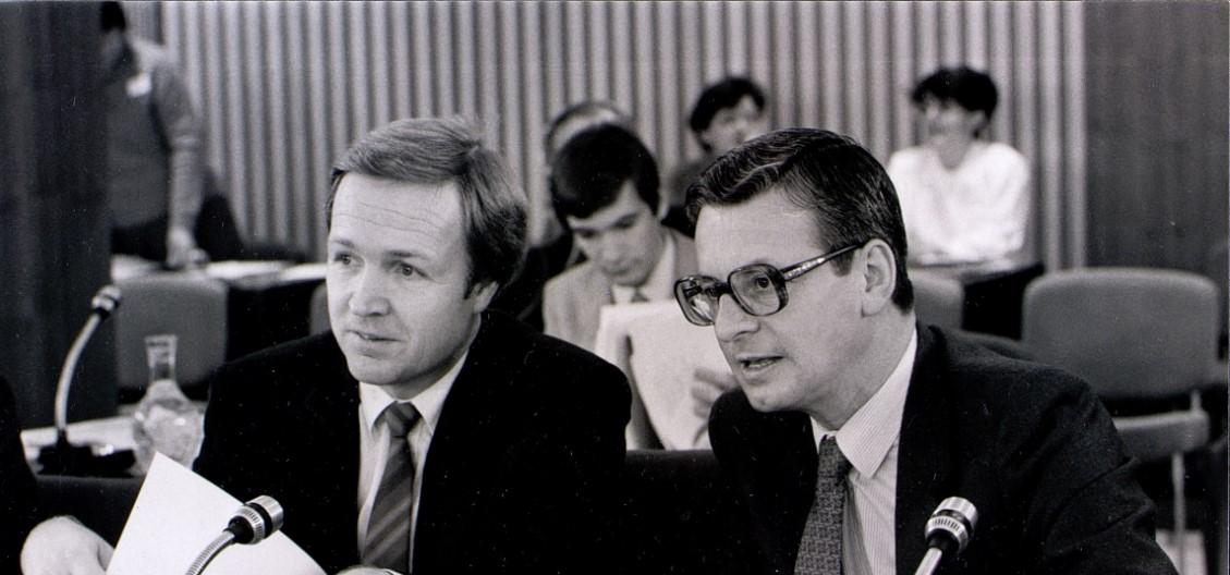 Jan Terlouw and Gerhard Aurbach
