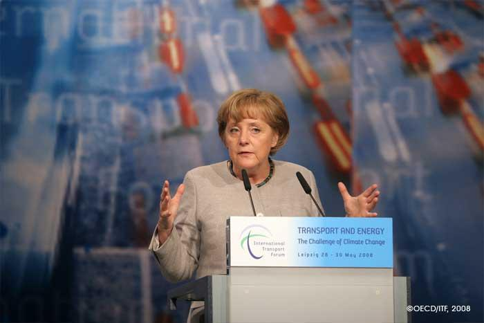 Federal Chancellor Angela Merkel is the keynote speaker.