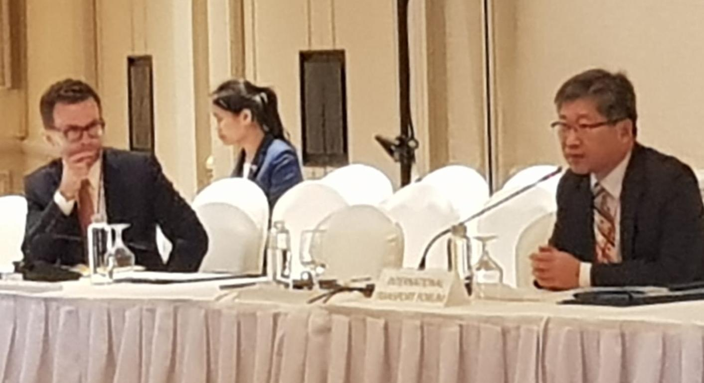ITF Secretary-General Young Tae Kim speaks at a high-level Policy Roundtable during ITS World in Singapore on 21 October 2019