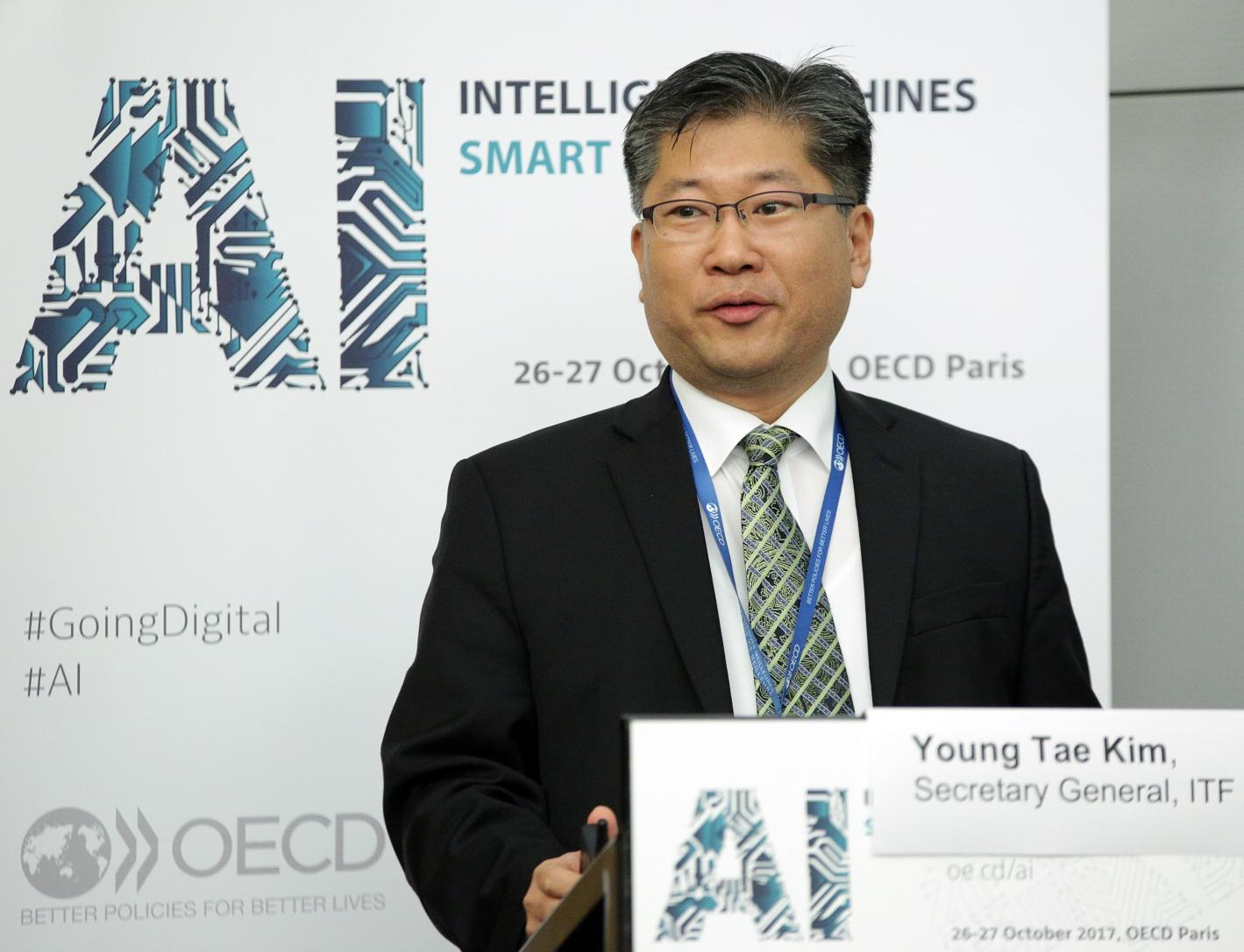 Young Tae Kim at the OECD AI Forum, Paris, 27 Oct 2017